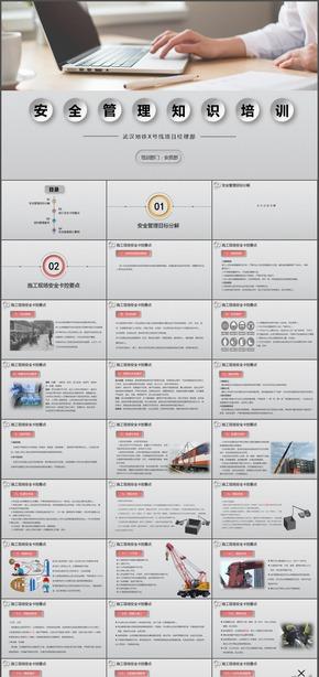 安全管理知识学习动态PPT模板