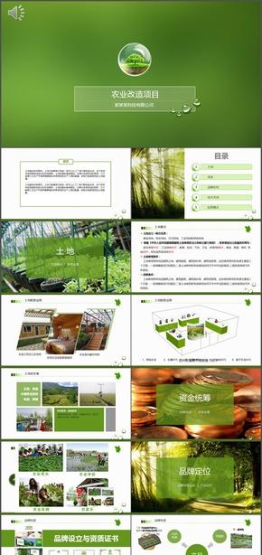 农业项目投资农村土地改造运营WIFI方案动态PPT模板