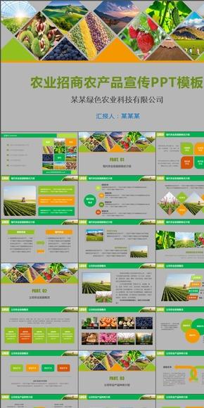 绿色农业科技农业招商农产品宣传动态PPT模板