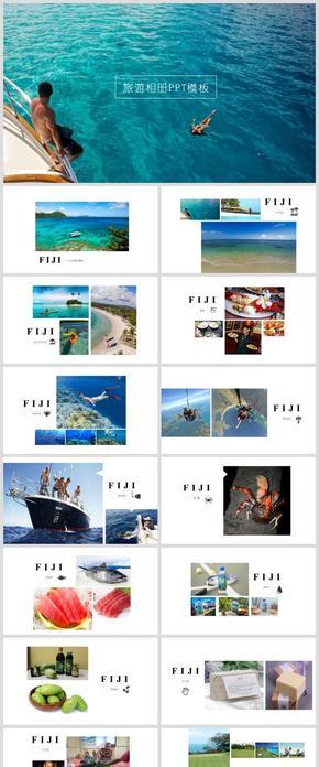 摄影图文旅游相册PPT模板