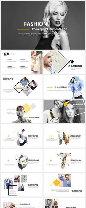 高端杂质风时尚广告走秀划营销介绍PPT模版
