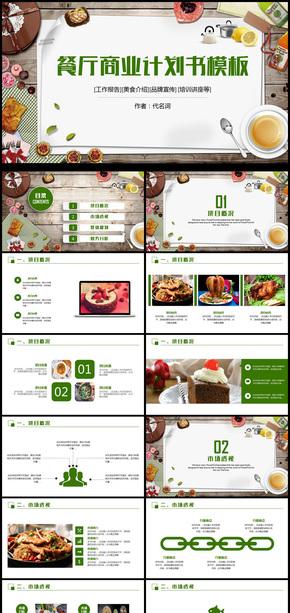 精美餐厅美食介绍餐饮行业动态PPT模板