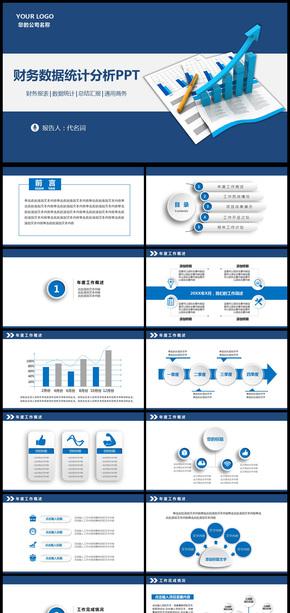 财务数据分析报表报告PPT模板