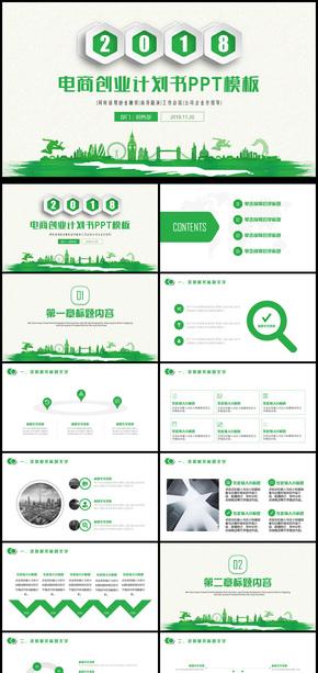 简约创业投资电子商务融资计划书PPT模板