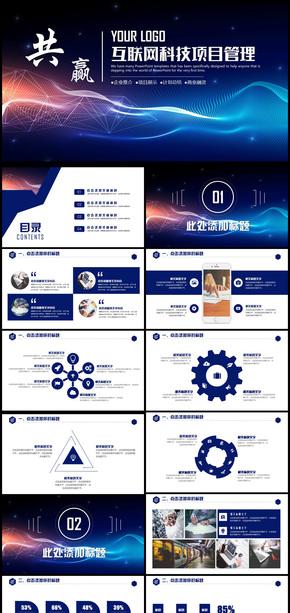 互联网科技项目策划书PPT模版