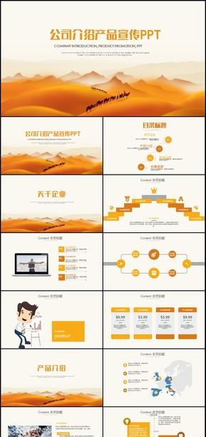 公司宣传介绍服务推广产品销售PPT模板