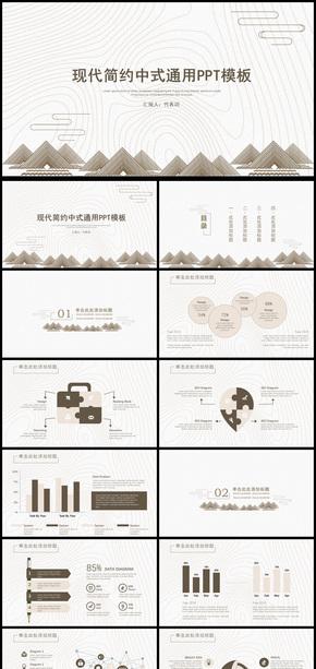 商务中国风工作总结计划通用PPT模板