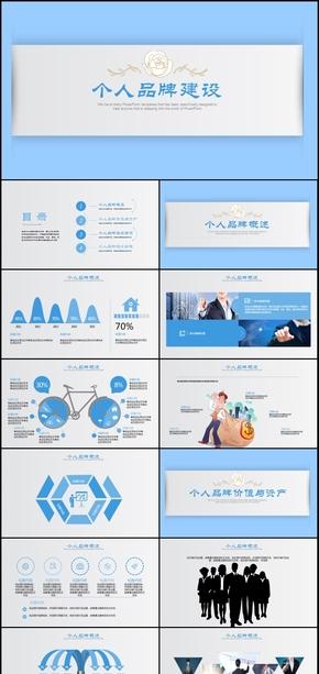 创意个性品牌建设策划商务动态PPT通用模板