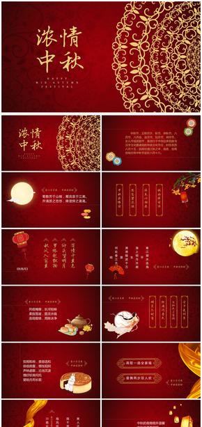 中国风传统节日中秋节策划宣传活动PPT模板
