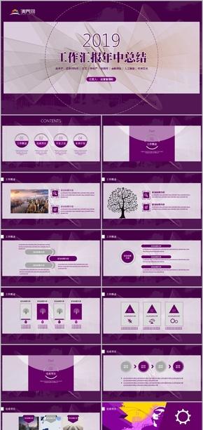 紫色时尚商业计划书年度报告模板