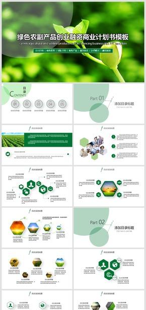 2018绿色农副产品项目创业融资商业计划书PPT模板