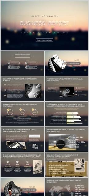 高端简约欧美苹果风商务报告公司介绍工作总结计划汇报动态模板