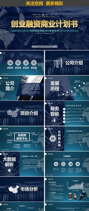 行业项目招商融资商业计划书PPT模板
