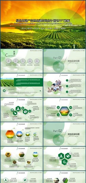 绿色农副产品项目创业融资商业计划书PPT模板