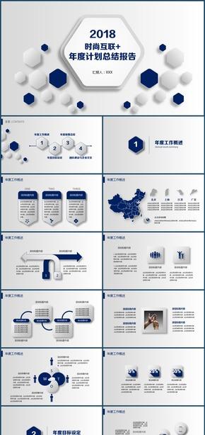 时尚微粒体移动互联网创新科技商业计划书总结报告模板