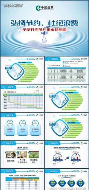 节约用水品管圈企业节水QC发布