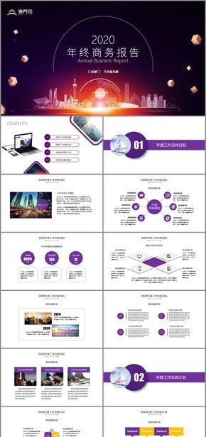 精美大氣市場營銷年終商務報告模板