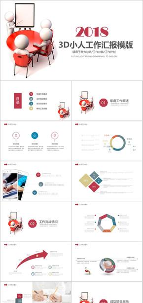 2018  年度 年终 创意 红色 时尚 商务 年终总结  工作汇报 公司 企业  述职 报告
