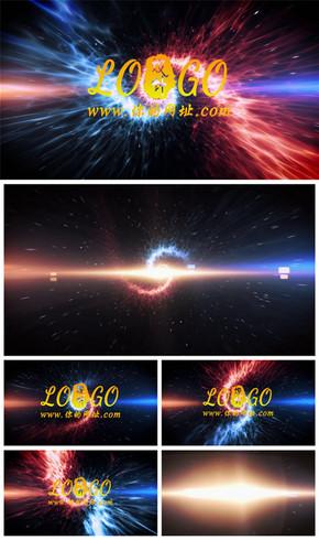 震撼大气星空粒子logo演绎展示标志开场片头动态PPT模板
