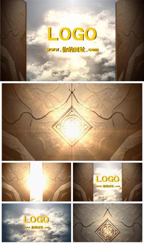 震撼大气开门揭示logo电影开场片头动态PPT模板