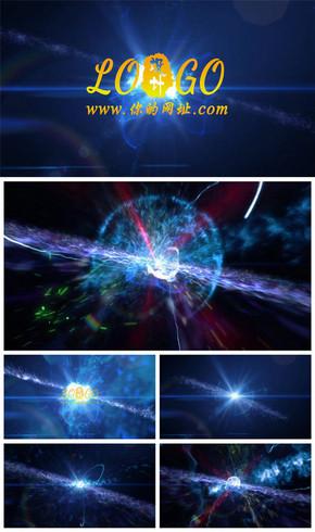 震撼大气宇宙星空爆炸特效logo片头动态PPT模板
