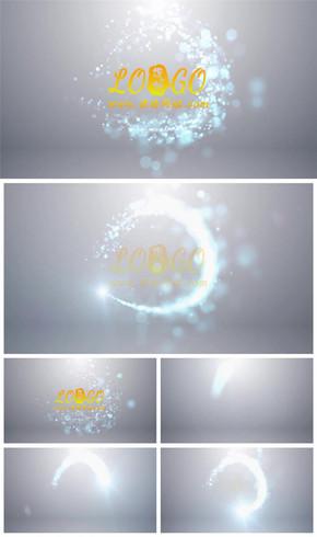 唯美粒子光线环绕logo演绎片头动态PPT模板