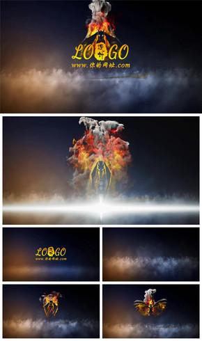 大气火龙腾飞logo演绎片头动态PPT模板