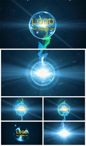震撼大气光线粒子logo演绎片头动态PPT模板