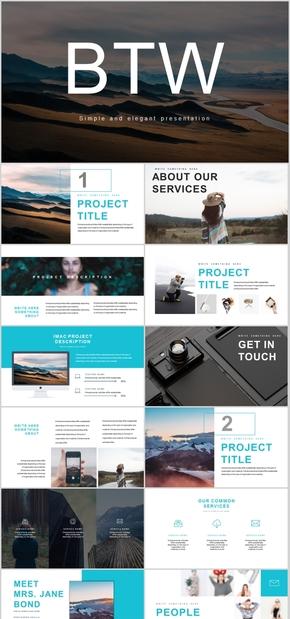 高端动态大气欧美个性简约创新画册企业宣传产品宣传商务会展PPT模板