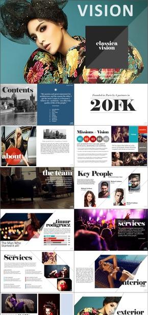 【FK演示】精美时尚杂志风排版设计高端个性图片设计欧美商务总结计划汇报方案PPT模板_看图王