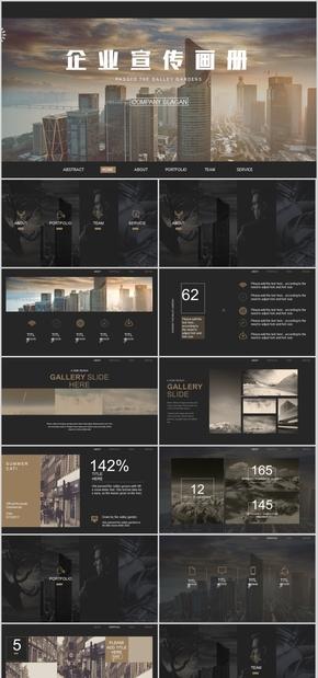 高端动态时尚大气欧美杂志风品牌宣传企业宣传画册产品画册PPT模板
