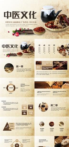 高端动态传统中医文化广告宣传ppt模板
