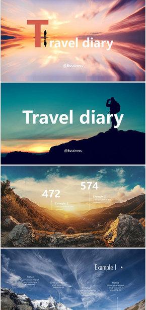 (travel dairy)摄影旅行相册毕业纪念册PPT模板