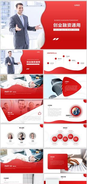 高端商业计划书商业创业融资商业计划书投资计划PPT模板