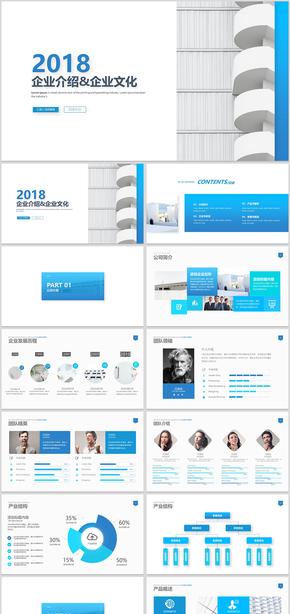蓝色企业介绍公司介绍企业简介公司简介企业宣传公司推广