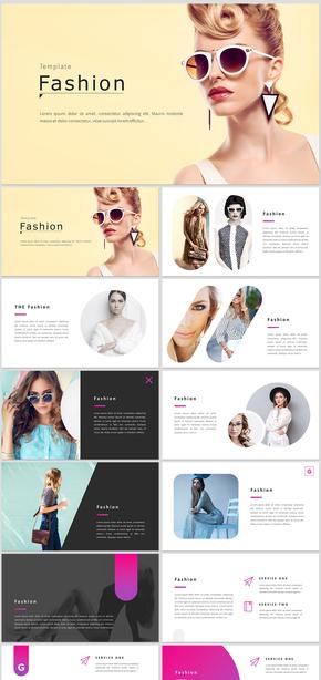 优雅时尚杂志风格高端奢侈品服装秀宣传展示相册品牌宣传商业计划书
