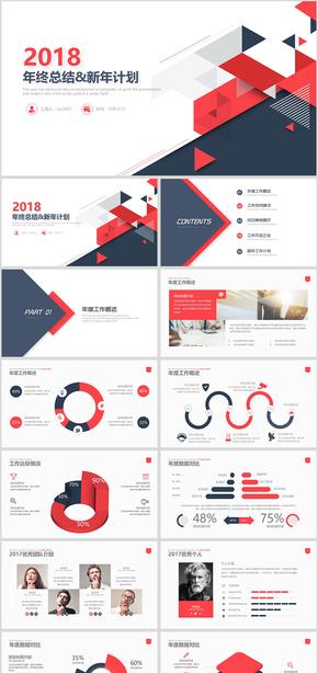 商务风年终工作总结新年计划商业策划书竞聘述职PPT模板