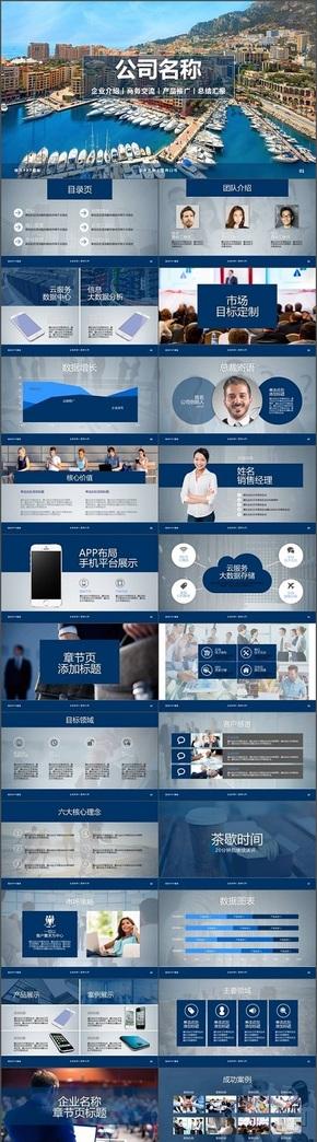 企业介绍商务交流产品推广总结汇报PPT模板