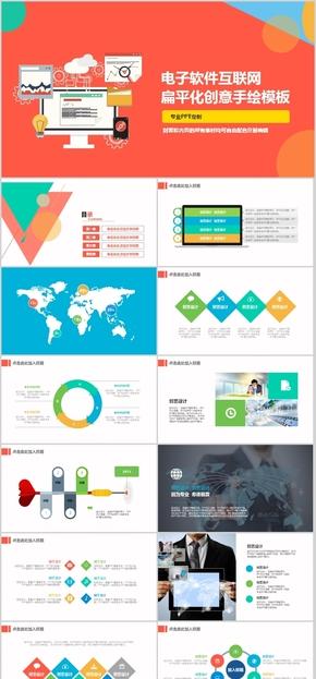 3 电子 软件 互联网创业融资 商业计划书 创业融资计划书 欧美风格 大气 商业咨询 黄色