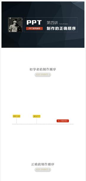 【柴人说PPT】系列课程之制作幻灯片的正确顺序