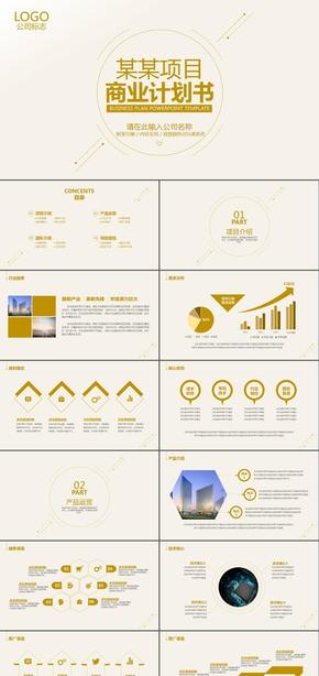 高端简约大气创业融资商业计划书公司宣传企业简介项目投资合作洽谈ppt模板