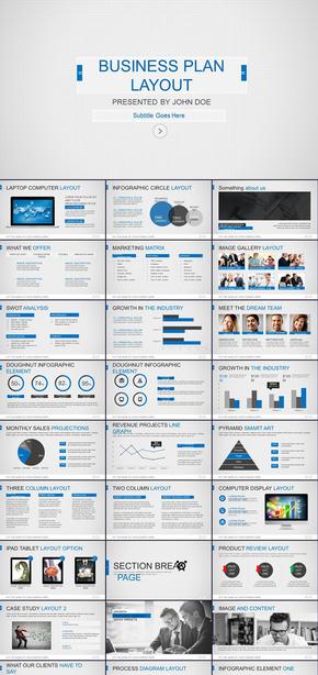 欧美风简约工作报告商务汇报新年工作计划年中年终工作总结述职报告ppt模板
