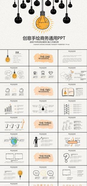 创意手绘高端商务通用工作报告述职报告工作总结新年计划2017ppt动态模版