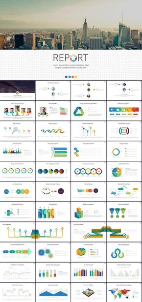 欧美高端工作报告商务汇报新年工作计划年中年终工作总结述职报告ppt模板