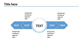 蓝色扁平并列关系PPT模板