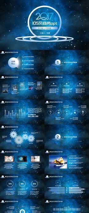 蓝色大气扁平IOS风网络科技公司产品介绍总结汇报计划职述商务通用ppt