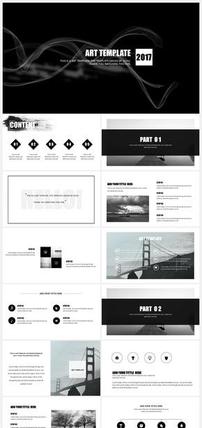 (推荐)黑白极简色纯设计经典创意商务大气年终总结工作汇报计划书通用模板