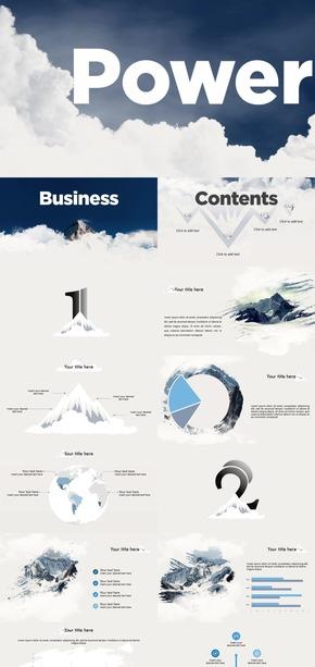 【千山暮雪】2017年蓝调雪山商务工作总结汇报动画模板