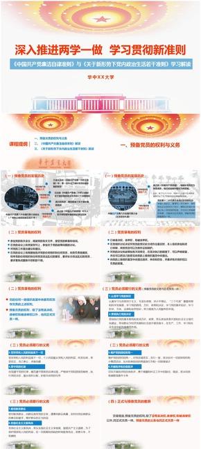 《中国共产党廉洁自律准则》与《关于新形势下党内政治生活若干准则》学习解读