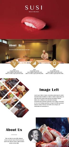 日式料理华美杂志风ppt模版